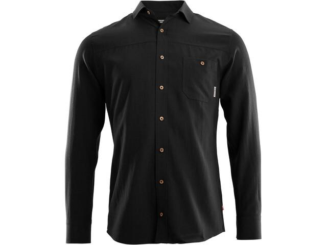 Aclima Woven Wool Shirt Heren, jet black